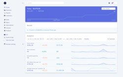 From Stripe's dashboard, you can see an overview of your sales data as well as recent activity on your account, such as fund transfers.