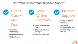 Fattmerchant differentiates itself based on cost, ease of use and customer support.