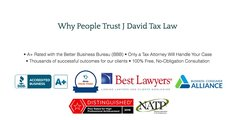 J. David Tax Law is an accredited member of the Better Business Bureau with an A+ rating.