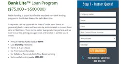 Noble Funding offers a loan program called Bank Lite, which offers loans for three, four or five-year terms.
