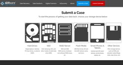 Potential customers can submit a case online to initiate the data recovery process with Gillware.
