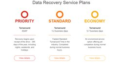 DriveSavers offers three service plans, depending on how quickly you need your data recovered.