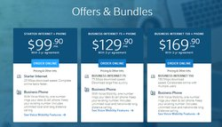 Comcast offers different bundles and pricing packages, with five plans designed for small businesses.