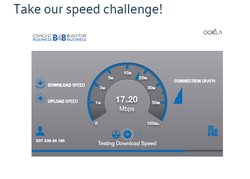 """The website allows you to take a """"speed challenge,"""" which lets you see your current internet speed and compare it to what Comcast offers."""