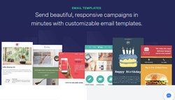 While you can design your own emails, the wide library of templates can make it easier.