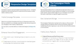 Campaigner offers a large variety of email template designs.
