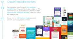 GetResponse is reasonably priced and offers a wide selection of design templates.