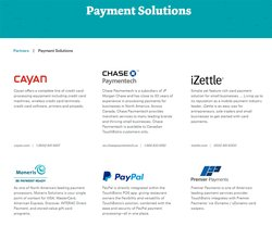 TouchBistro is compatible with multiple payment solutions.