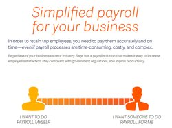 Sage aims to simplify the payroll process for businesses, handling all your payroll tasks for you – including all payroll tax obligations if you choose.