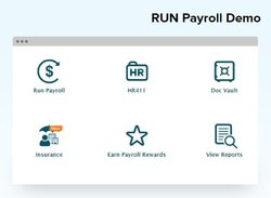 You can run payroll from your computer, laptop or smartphone. The initial dashboard screen lets you quickly perform a number of tasks, including running payroll. It also contains links to reports as well as other important HR documents.