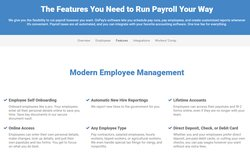 OnPay is the payroll we selected for very small businesses. It handles everything from payroll processing and direct deposits to calculating, filing, and paying your payroll taxes.