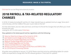 You can find up-to-date tax rates as well as other regulatory changes on the company's website.