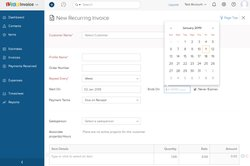 You can set up the system to automatically generate recurring invoices, which is useful if your business sells goods or services on a subscription basis.