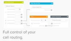 The system provides detailed control of call routing options.