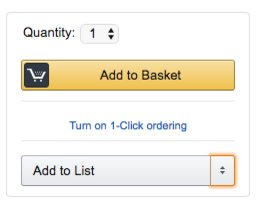 Example of Amazon's primary and secondary CTA