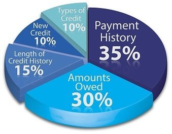 Pie chart outlining business credit rating percentages