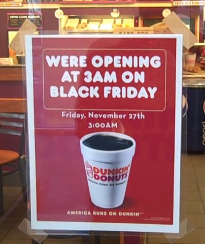 Dunkin' Donuts store sign with incorrect grammar usage