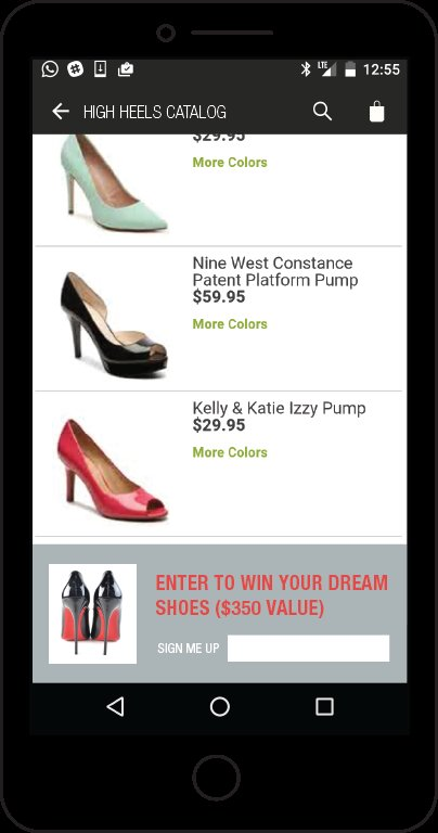Retail Form on Mobile Phone