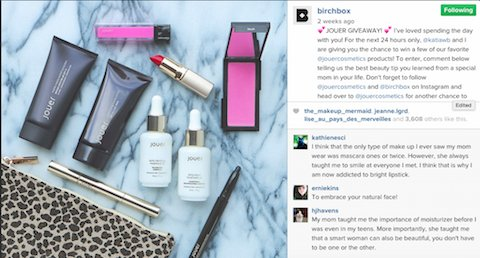 case study 2 Birchbox instagram influencer marketing via
