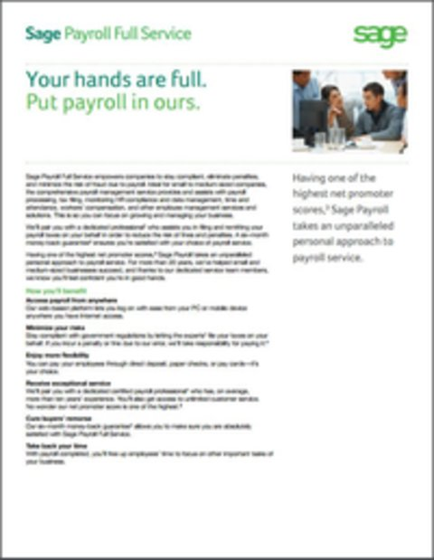 Sage Payroll Services - Whitepaper
