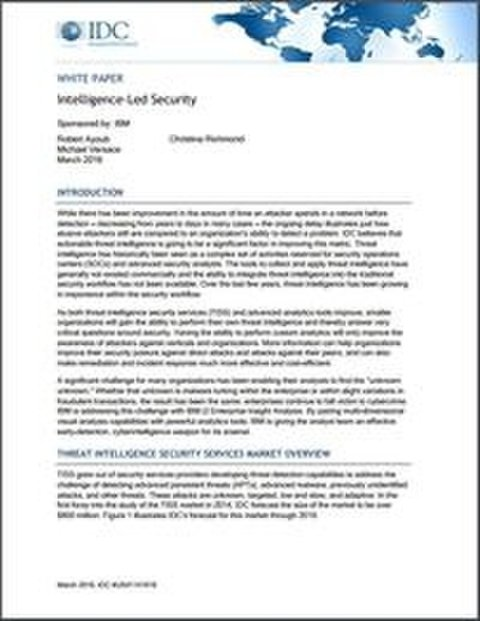 IDC Intelligence-Led Security