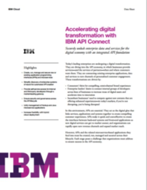 Accelerating Digital Transformation with IBM API Connect