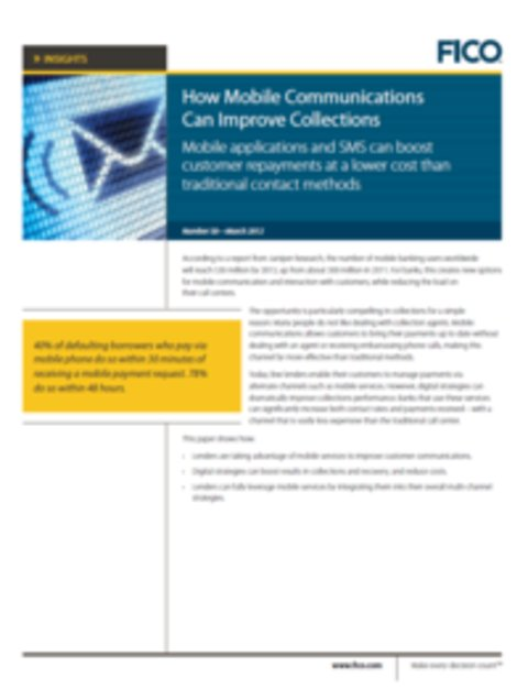 How Mobile Communications Can Improve Collections