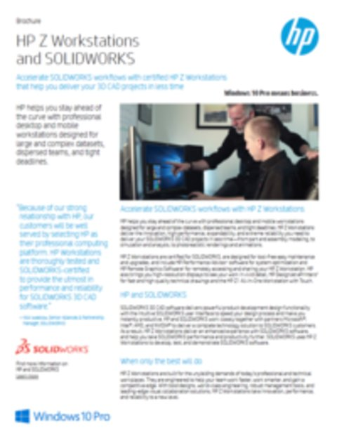 HP and Solidworks AEC Brochure