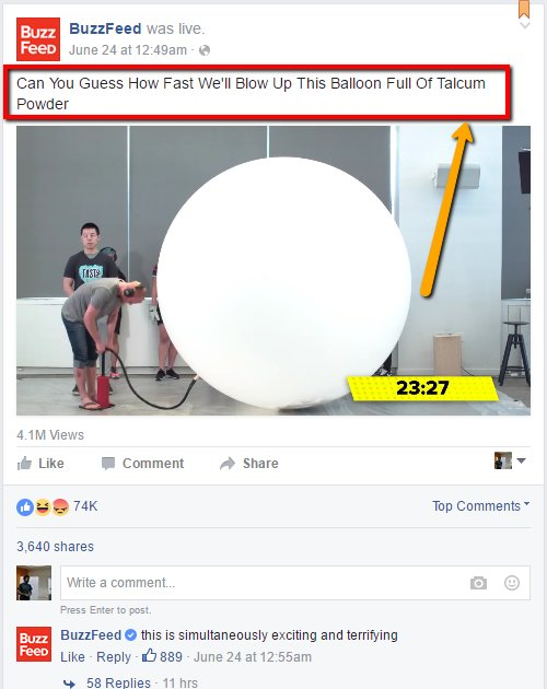 BuzzFeed FB page