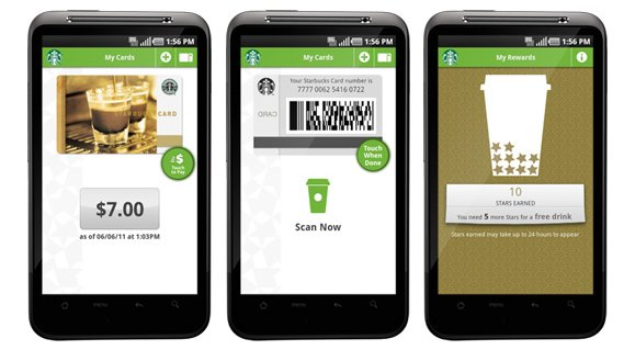 Starbucks Mobile Apps screen shots