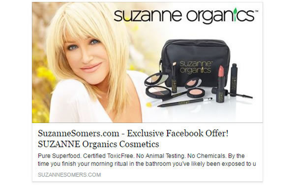 Exclusive Facebook offer by SuzanneSomers.com