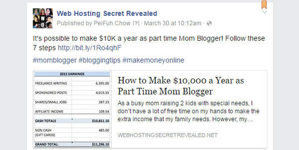 Pin a Post to the top of Facebook Page example