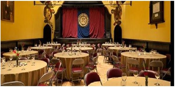 Theater style setting for banquet