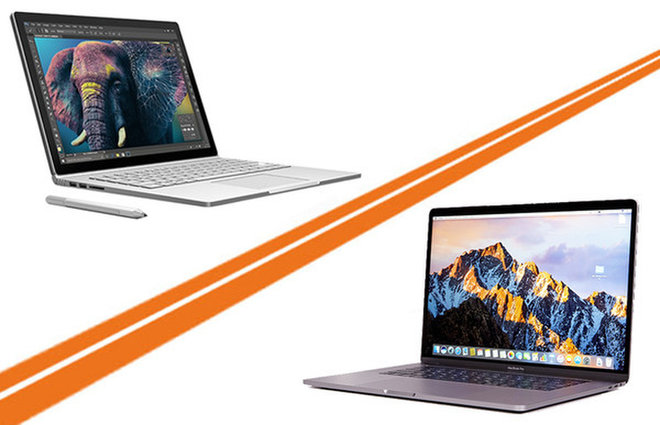 MacBook Pro With Touch Bar vs. Microsoft Surface Book