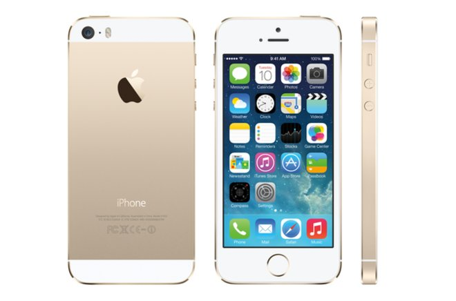 image for iPhone 5S image courtesy of  Apple