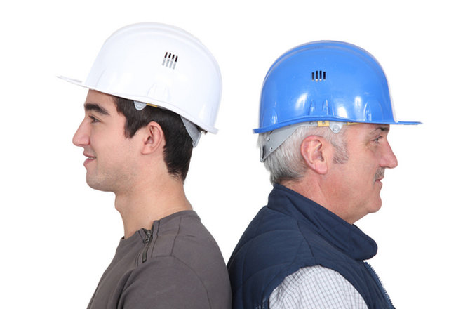 image for Older and younger worker image via  Shutterstock