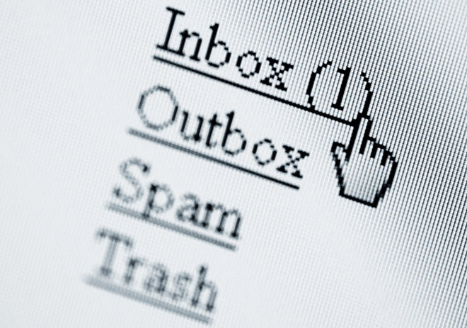 email screen