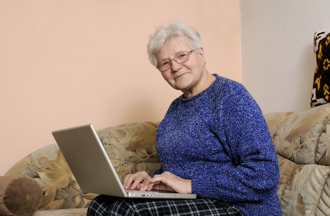 image for Senior computer image via  Shutterstock