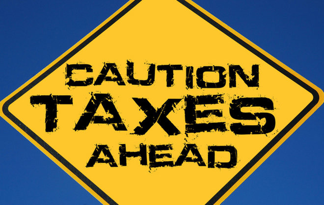 image for   / Credit: Taxes ahead sign via  Shutterstock