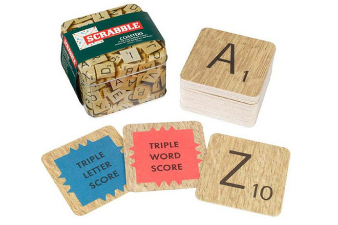 Scrabble coasters, gifts