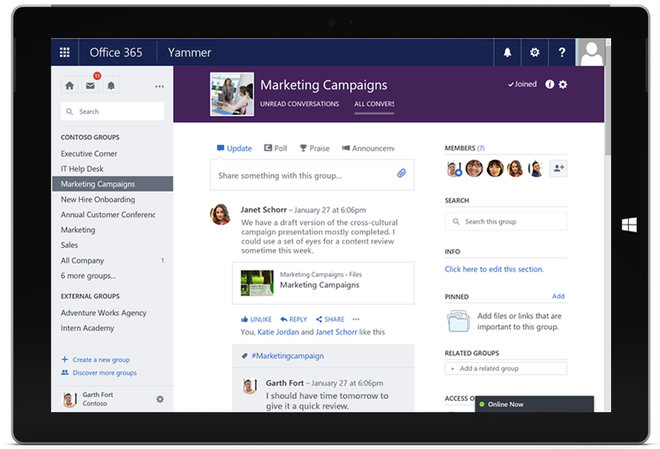 Yammer for Office 365